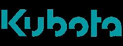 Logo van Kubota (grondverzet) in kleur.